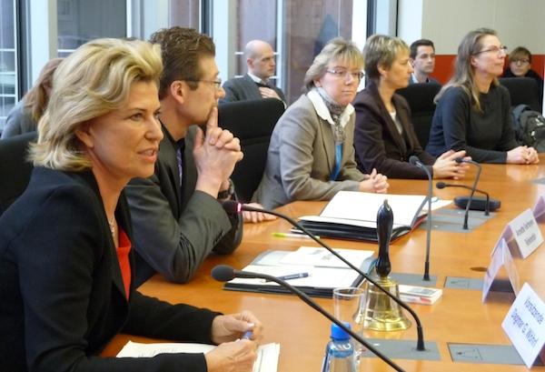 Während der Konstituierung des Ausschusses für wirtschaftliche Zusammenarbeit und Entwicklung (AwZ).
