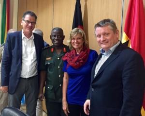 Dagmar Wöhrl, Bundesentwicklungsminister Müller und Bundesgesundheitsminister Gröhe auf Dienstreise in Ghana und Liberia