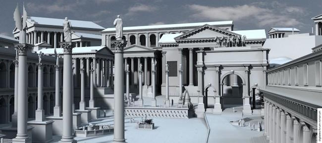Digitales Forum Romanum. Autor Anonym. Copyright CC-BY-NC-ND