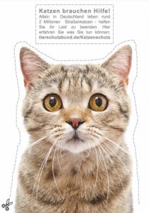 Tierschutzbund. Bild Katzenaufkleber: © sonsedskaya - Fotolia.com